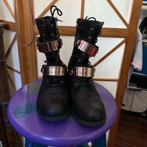 Saints colored boots